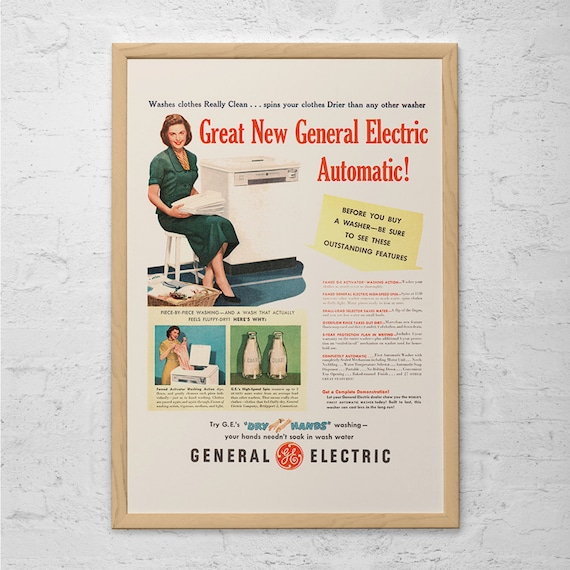 VINTAGE LAUNDRY ROOM Ad Retro Washing Machine Laundry