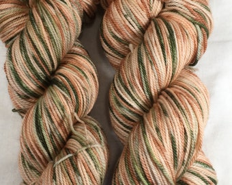 Hand-dyed DK Superwash Merino - Peaches and Herb
