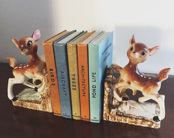 Kitsch Bambi Deer Bookends