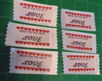 Made For You With Love Labels - Personalize your work