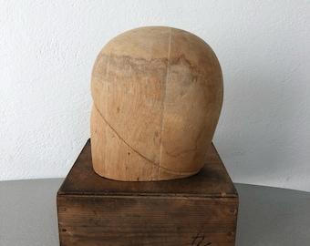 Vintage Antique Balsa Wood Millinery Hat Block Mold