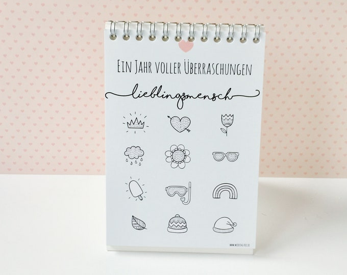 Scratchcard Coupon Calendar-Favorite person