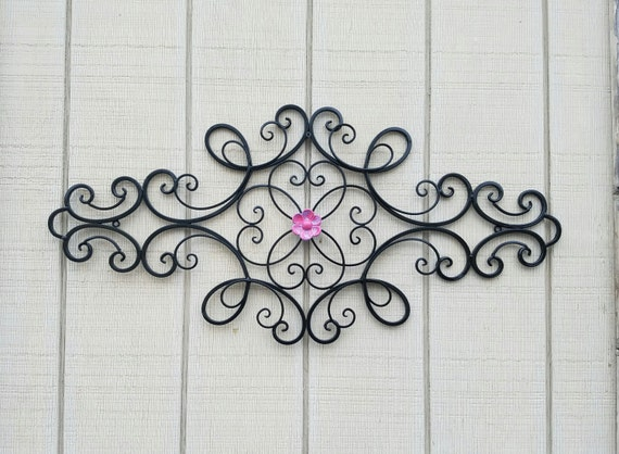 Wrought Iron Wall Decor Flowers : Wrought iron wall art metal large