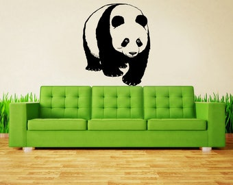 wall decal panda, panda decal, wall sticker bear , kids wall decals, Vinyl Sticker Panda, Car Decal, Laptop Decal, Macbook Decal kau12