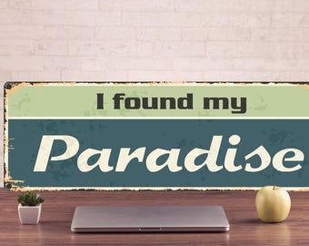 I found mu Paradise, Paradise Signs, Paradise Sign, Paradise Decor, Paradise Art Prints, Paradise Metal Sign, custom theater sign