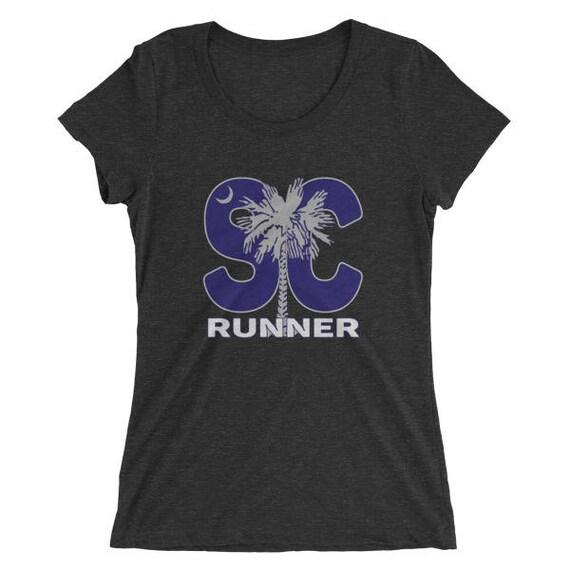 Women's South Carolina Runner TriBlend T-Shirt - Run South Carolina - Women's Short Sleeve Running Shirt