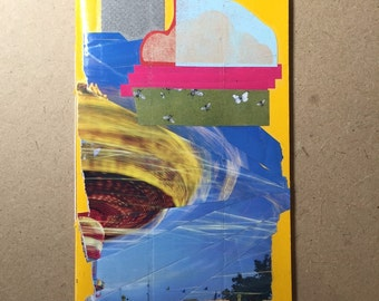 Hand bound // Collage covered // Goody Book // Notebook // Carnival Ride