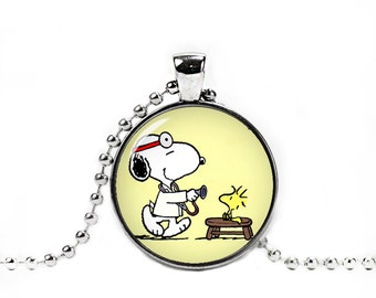 Doctor Snoopy Necklace Snoopy Pendant  Snoopy Jewelry Cosplay Fangirl Fanboy