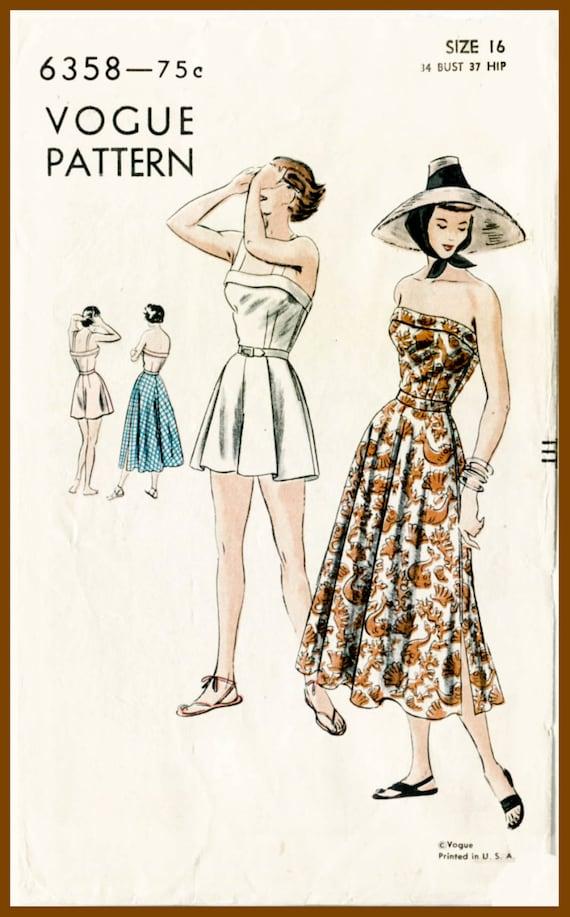 1940er Jahre 40er Jahre Vintage Vogue Nähen Muster Büste 34