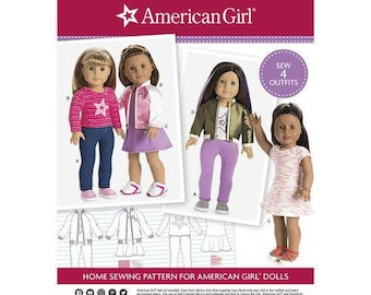 """Simplicity Pattern 8484 American Girl 18"""" Doll Clothes"""