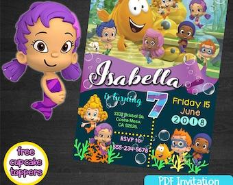 Bubble Guppies Birthday Invitation Cards Invitation Party Printables Bubble Guppies Invitations