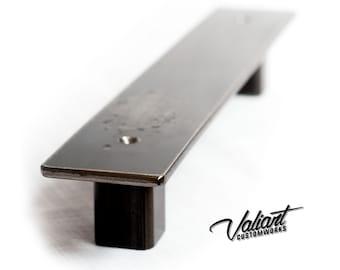 "Industrial 2"" Low profile barn / sliding door handle / pull"