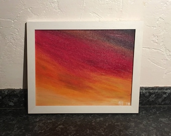 OIl painting - Red sky at night