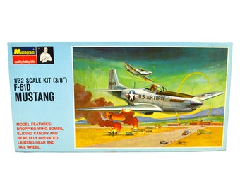 Model Airplane Kit Monogram 1/32 US F-51D Mustang WW2 Fighter Plane Plastic Aircraft