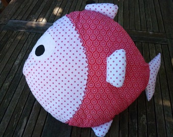 beautiful cushion red fish to brighten up children's room