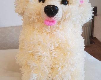 Crocheted Bichon Frise Puppy