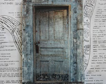 Door, Eastern State Prison, Original, Miniature, Art, Photography, Distressed, Abandoned, 4 x 6