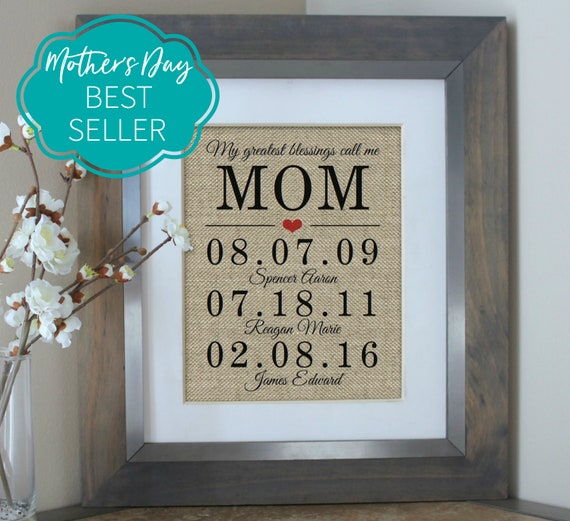 Mothers Day Gift Personalized Mothers Day Gift from Daughter Mom Gift from Son Birthday Gifts for Mom Gift for Mom Mothers Day from Daughter