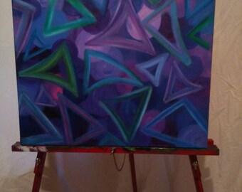 Triangle Mixed Media Painting