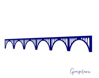 Washington DC Georgetown Key Bridge Card A2