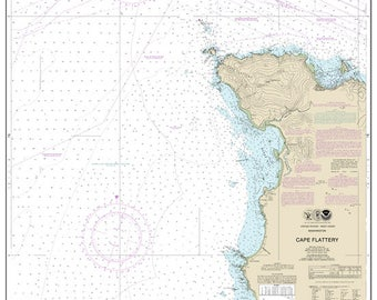 Official Noaa Chart of Cape Flattery 18485