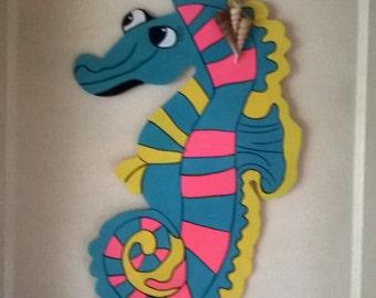 """25"""" Seahorse Door Hanger"""
