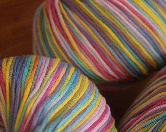 Organic cotton ball 50 grams, yarn, natural fiber, organic cotton yarn, cotton multicolored
