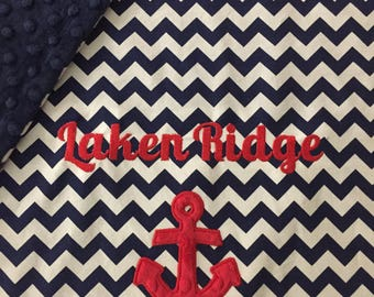 Anchor Baby Blanket | Personalized Anchor Baby Blanket | Anchor Blanket | Nautical Baby Blanket | Sailor Baby Blanket