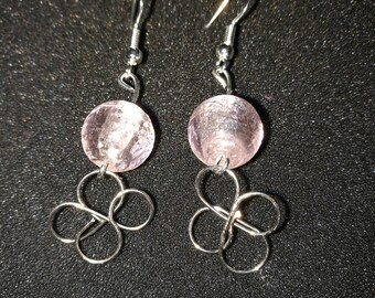 78. Hand Crafted Silver Flower Earrings