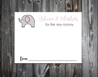 25 Pink and Grey Elephant Baby Shower Advice and Wishes