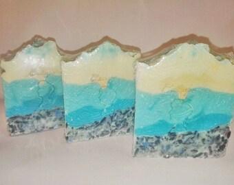 Summer soap, luscious feeling, artisan soap, Greek soap, Gift soap, Avocado soap, Luxury soap, spa soap, Cold process handmade soap, natural
