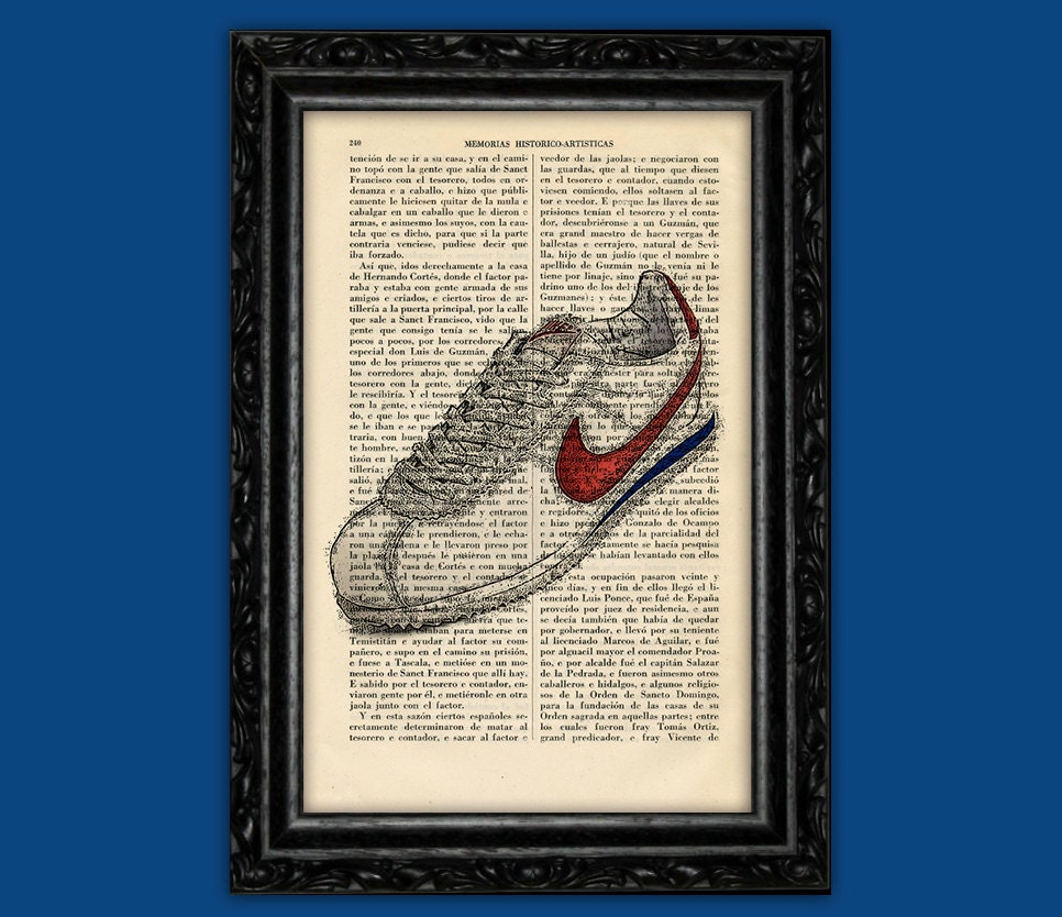 Forrest Gump Sneakers Poster dictionary print Wall Art Shoe