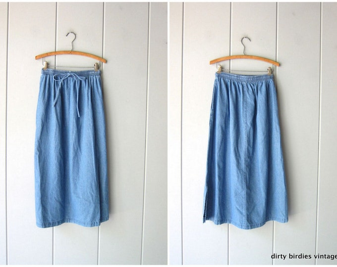 Minimal Denim Skirt