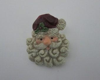 Vintage Santa Claus Face Brooch