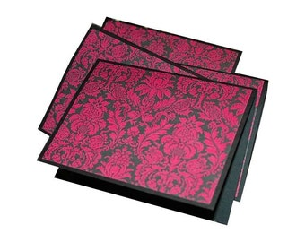 blank note cards, blank thank you notes, hot pink note cards, blank greeting cards
