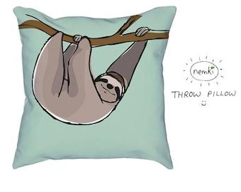 Sloth Pillow Sloth Home Gift Cute Sloth Gift Sloth Design Sloths For Sloth Lovers Sloth Housewarming Sloth Birthday Gift