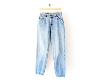 50% of Proceeds go to Planned Parenthood! Vintage High-Rise Levi's 950s, 90s Denim, Blue Stonewash Mom Jeans, White Tab, 29x30, Small/Medium