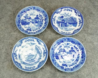 Maruta China 4 x Blue Porcelain Saucers