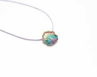 Mermaid necklace, mermaid shell pendant, mermaid scales, mermaid gift, beach necklace, little mermaid