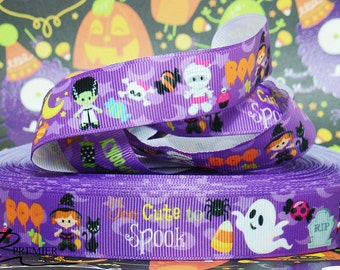 "7/8"" Halloween Grosgrain Ribbon"