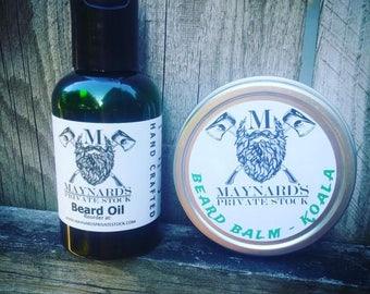 Beard Oil and Beard Balm Beard Kit - Koala (Eucalyptus scented beard oil & beard balm) top selling items self care essential oil blend