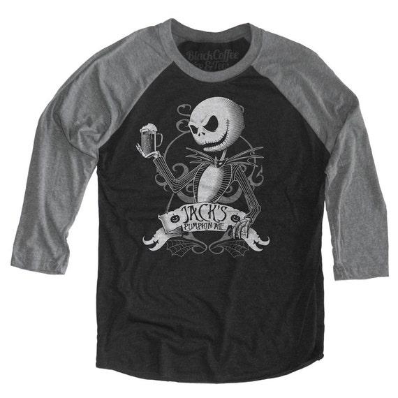 Nightmare Before Christmas Shirt - Jack Skellington Shirt - Jack Skellington Drinking a Pumpkin Ale Unisex Beer Shirt