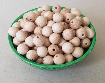 SALE! Wholesale 20 mm 13/16'' 10/20/30/50 pcs wooden beads Beech Wooden beads Teething beads Unfinished natural organic beads Toy supplies