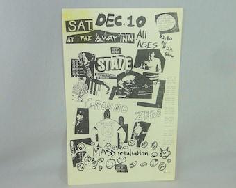 State original flyer - Vintage 1980s Flyer - Ann Arbor 1983 band gig concert flyer - Michigan punk rock