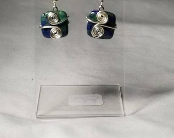Handgefertigte Ohrringe Silber Achat Ohrringe Silber