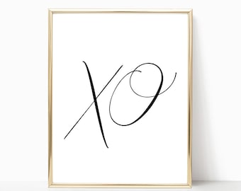 xo Digital Print Instant Art INSTANT DOWNLOAD Printable Wall Decor