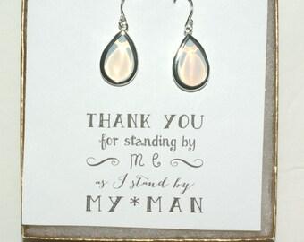 Set of 5 Opal Bridal Earrings, Opal bridal Jewelry, Opal Wedding Earrings, Opal Earrings, Opal Silver Earrings, Silver Opal Earrings, ES5