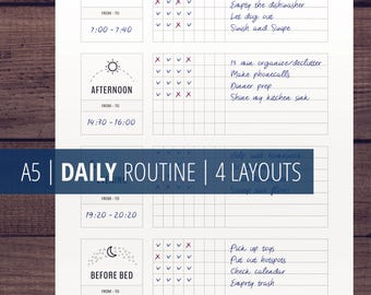Daily Routine Planner Printable, Flylady Morning Routine Checklist, Before Bed Routine, Home Management Planner Insert, Household printables