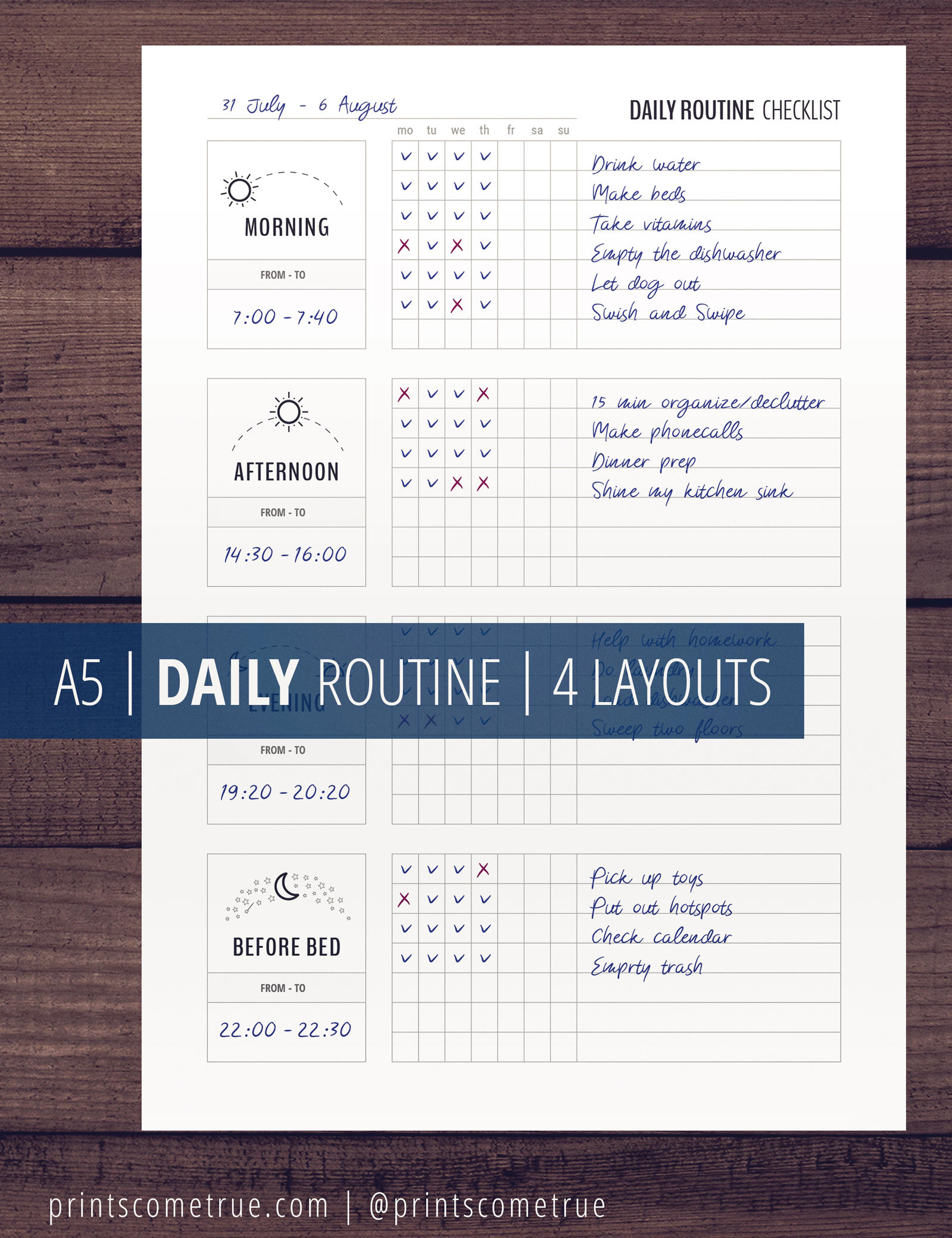 Daily Routine Planner Printable Flylady Morning Routine