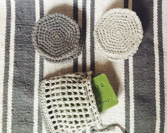 Crochet face scrubbies // Eco friendly// Reusable cotton // Washcloths Crochet// Make up remover pads // Washcloths Facial Cloth